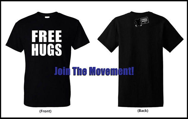 Free Hugs T-Shirt - Official Free Hugs Shirt